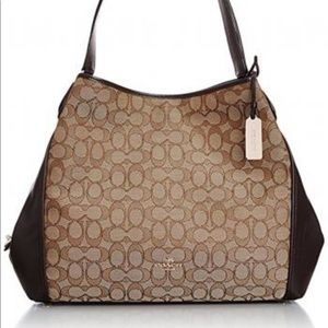 Coach like new brown color and tan